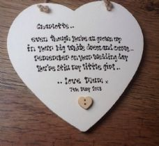 Shabby Personalised Chic Mother Of The Bride Gift For Daughter On Her Wedding..